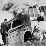 Freedom Riders' bus stoned and firebombed
