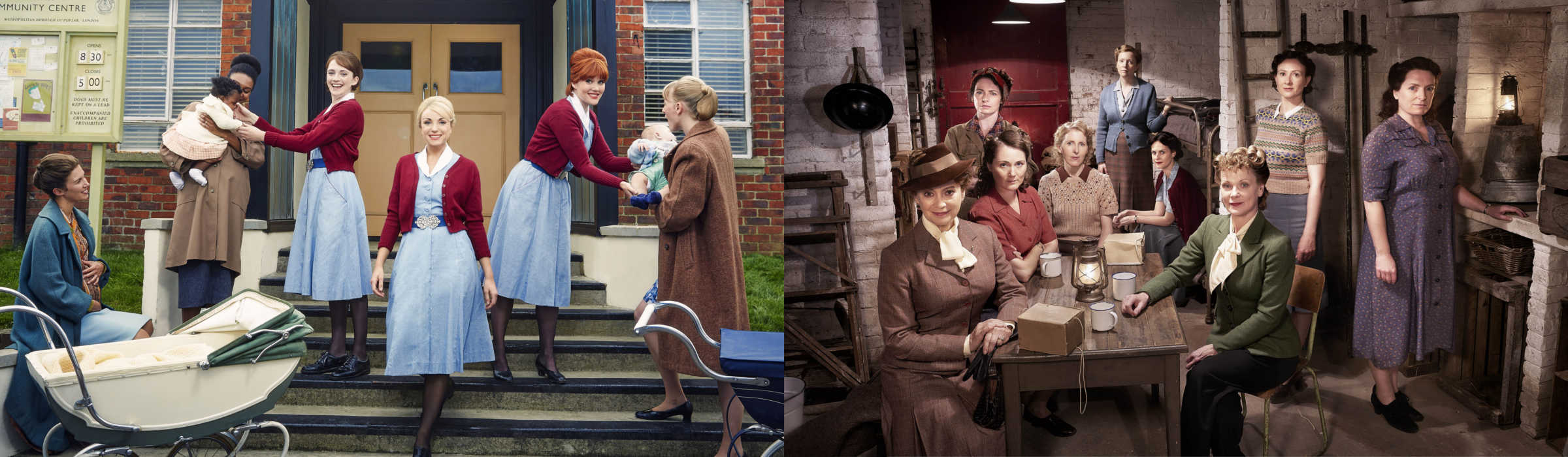 The cast of Call the Midwife and Home Fires