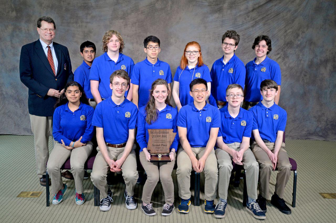 Haas Hall Bentonville 1A Quiz Bowl Runner-up 2017