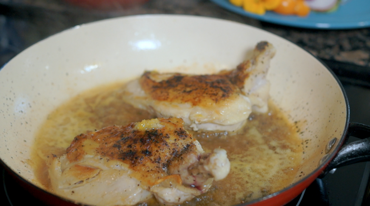 """Cook With Brooks Fennel and Arugula Salad Chicken"""" /><figcaption class="""