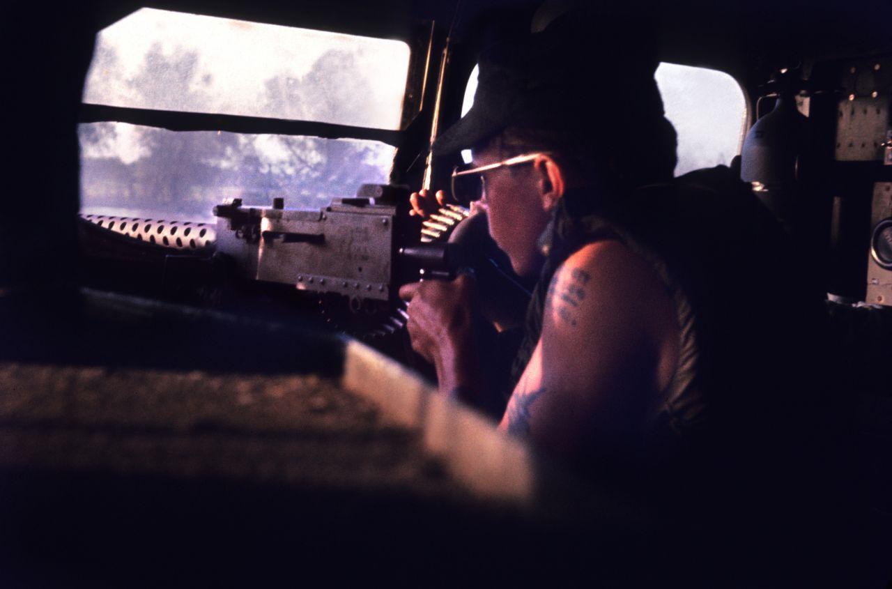 Vietnam War Bruce Wesson Gunner Within Hovercraft