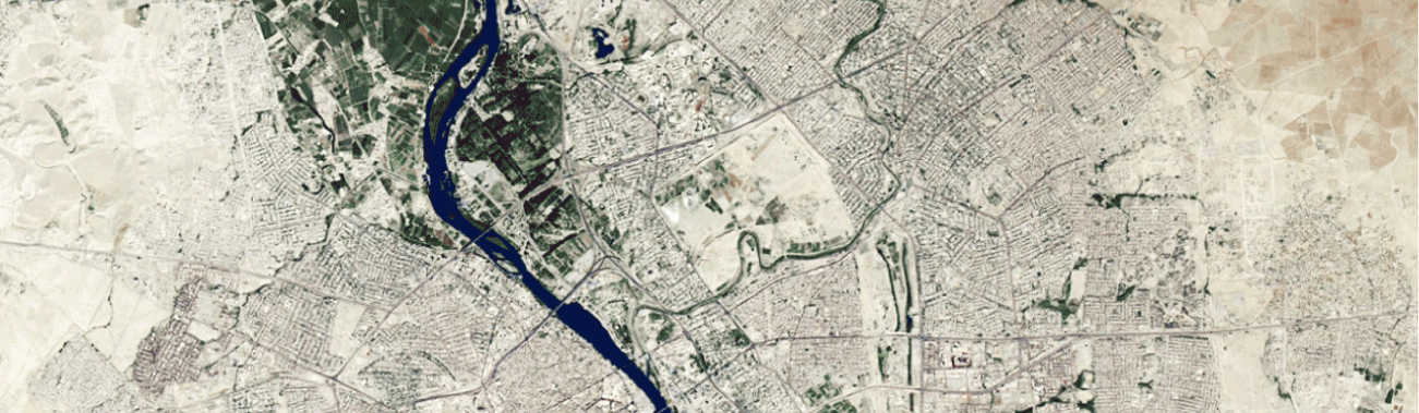 Aerial map of Mosul