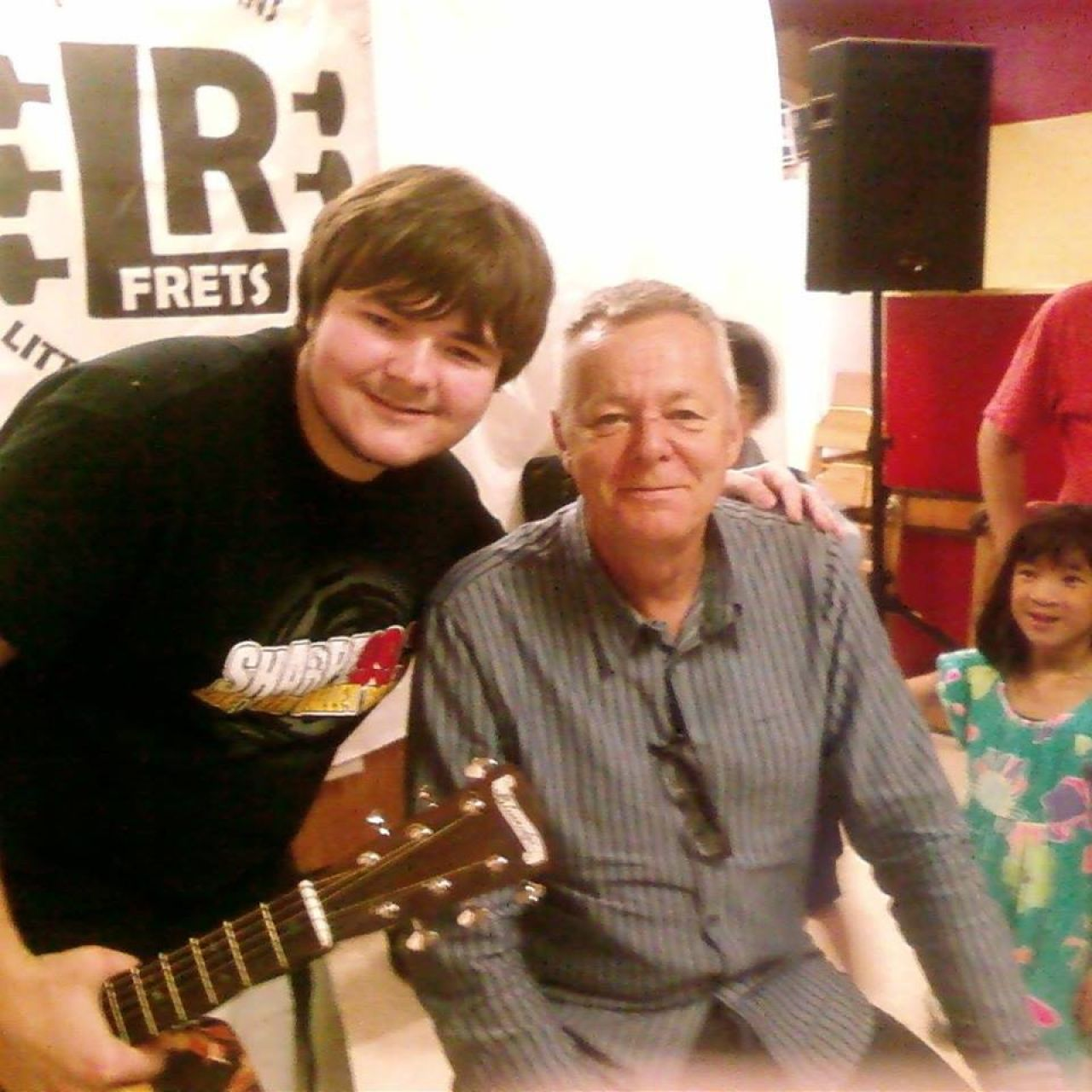Ryan Harmon with Tommy Emmanuel at the 2013 clinic