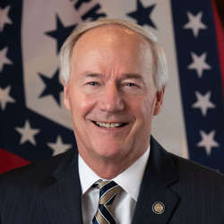 official potrait photo of Governor Asa Hutchinson