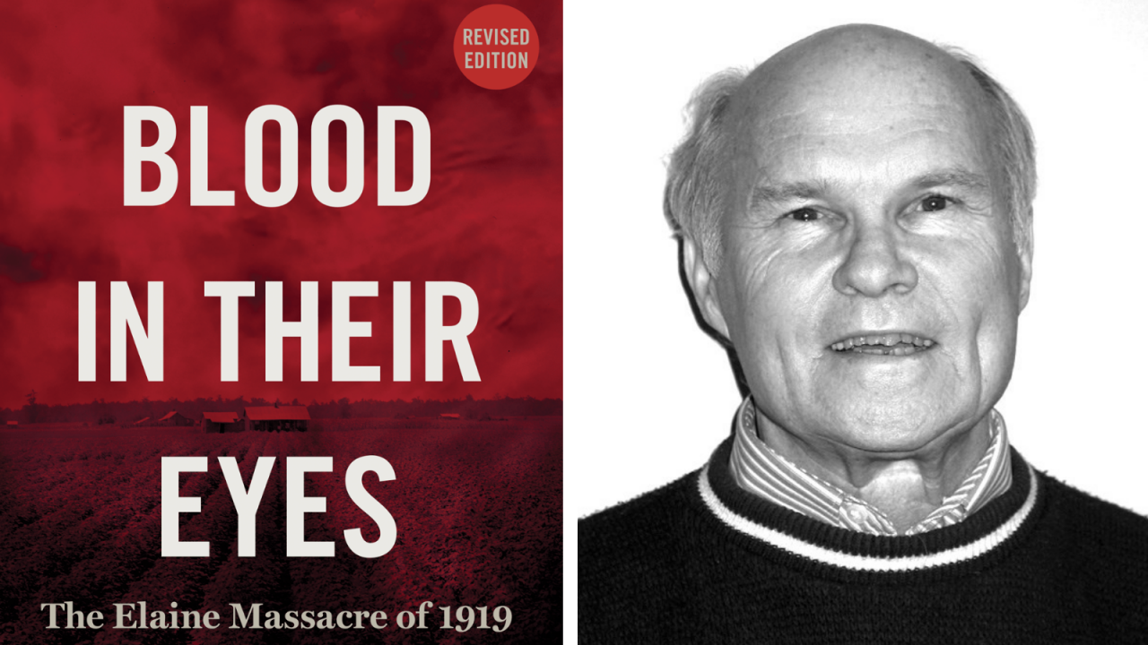 Blood in Their Eyes book cover and headshot of author Grif Stockley