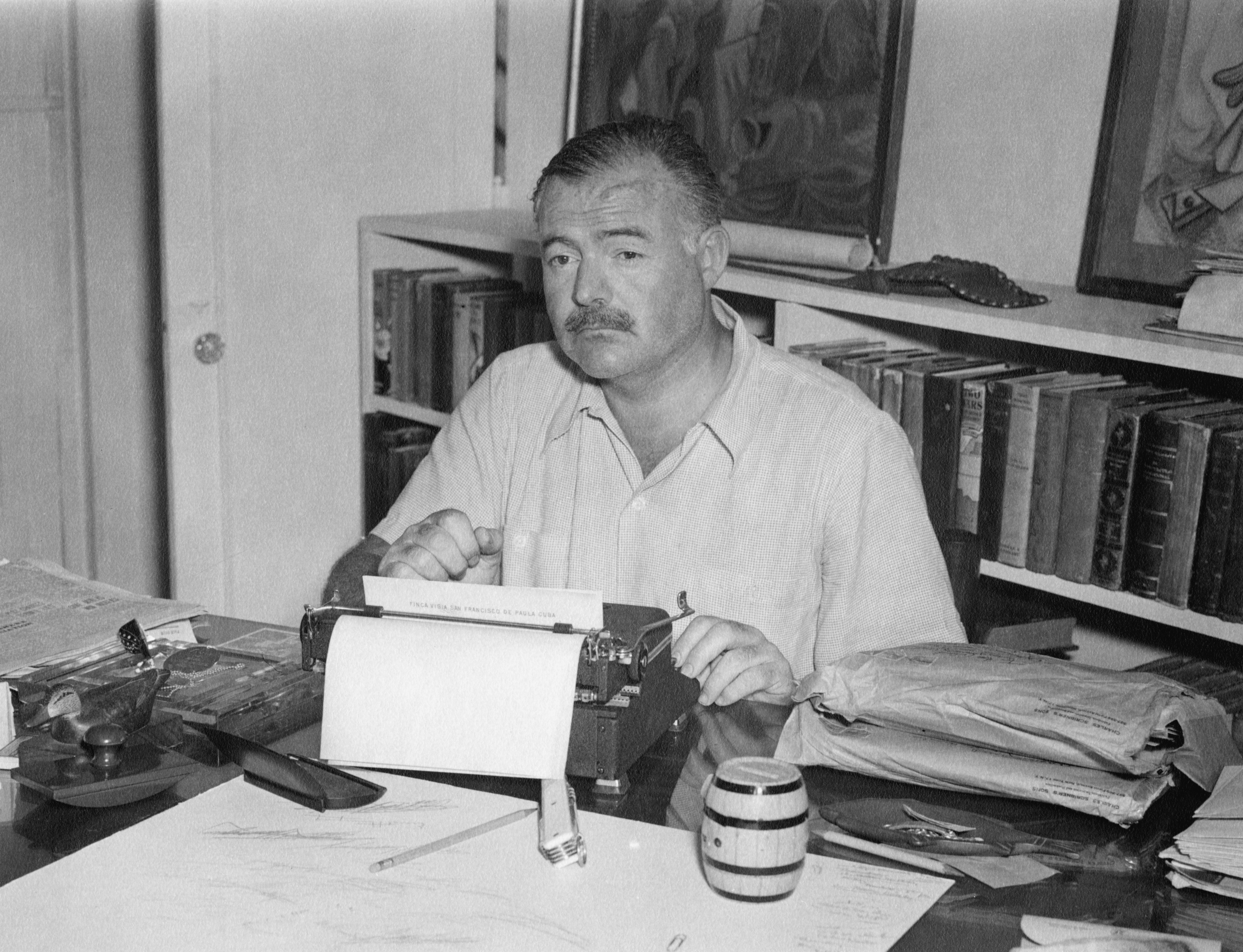 Hemingway Blinging Out Black Out Poetry Registration