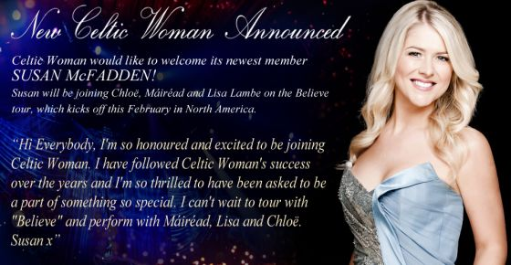 Susan McFadden, new Celtic Woman