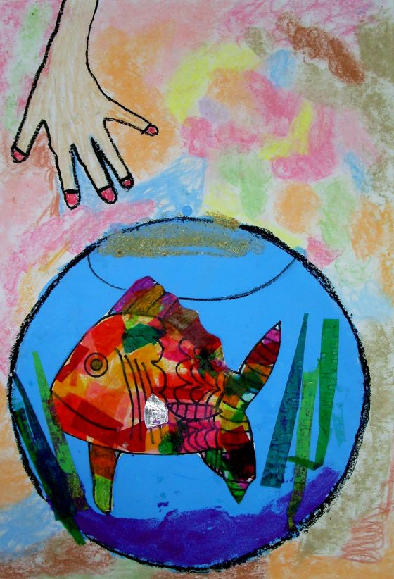 """Feeding My Rainbow Fish"" by Rosie Mahan"