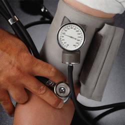 blood pressure being taken from arm