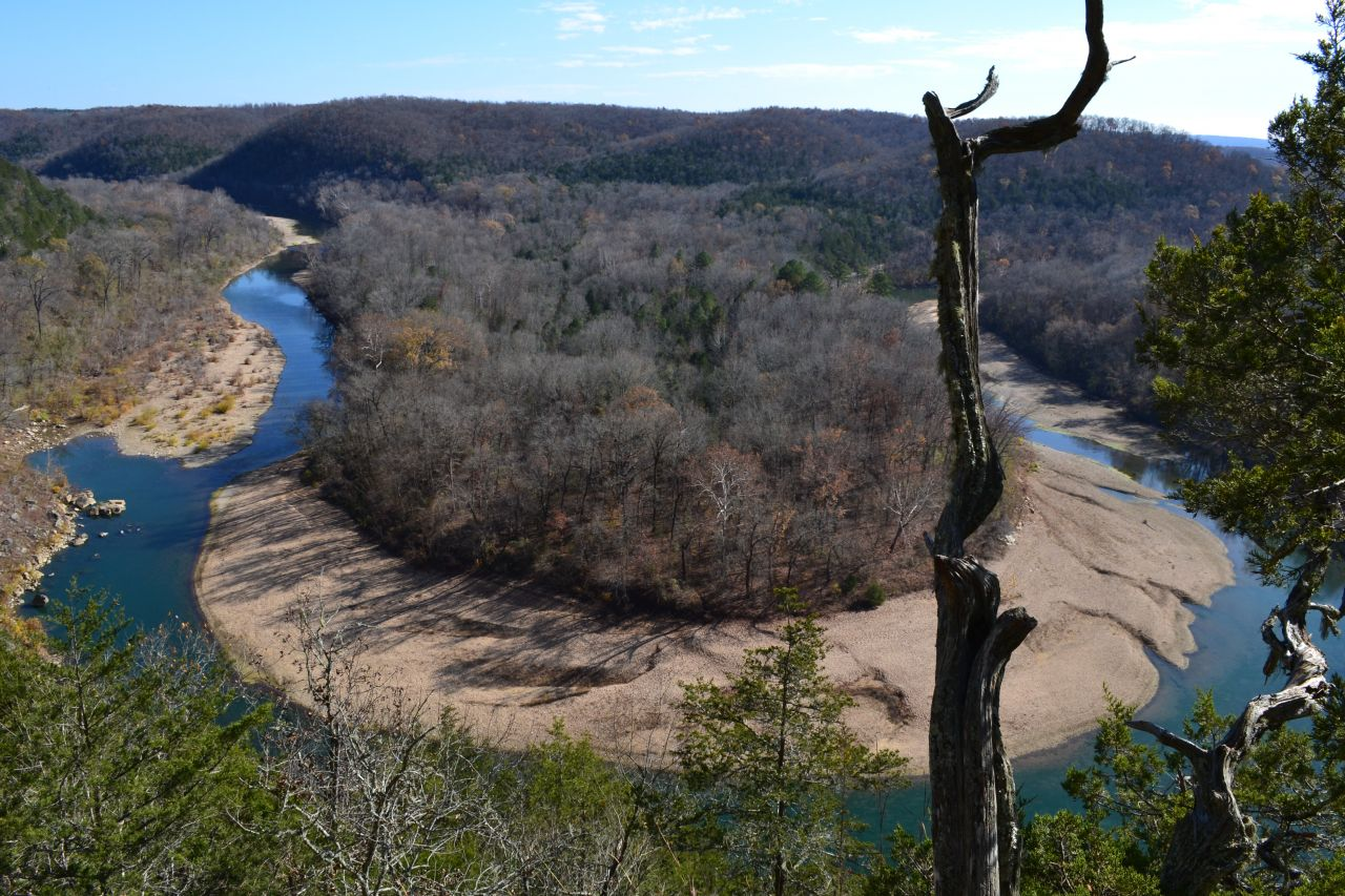 Exploring Arkansas Red Bluff Overlook
