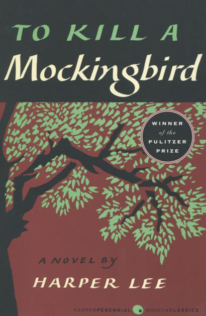 book cover of 'To Kill a Mockingbird'