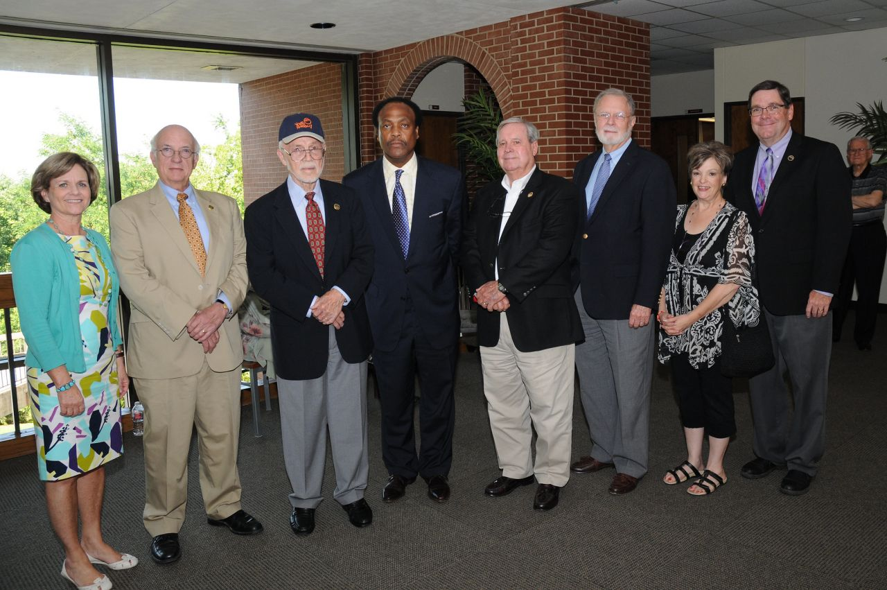 Dr. Downs with fellow board members at his 2014 AETN Commission Board retirement celebration.