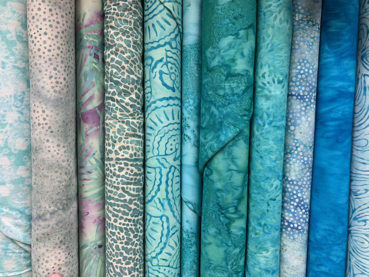 Fabric Samples in Cool Colors