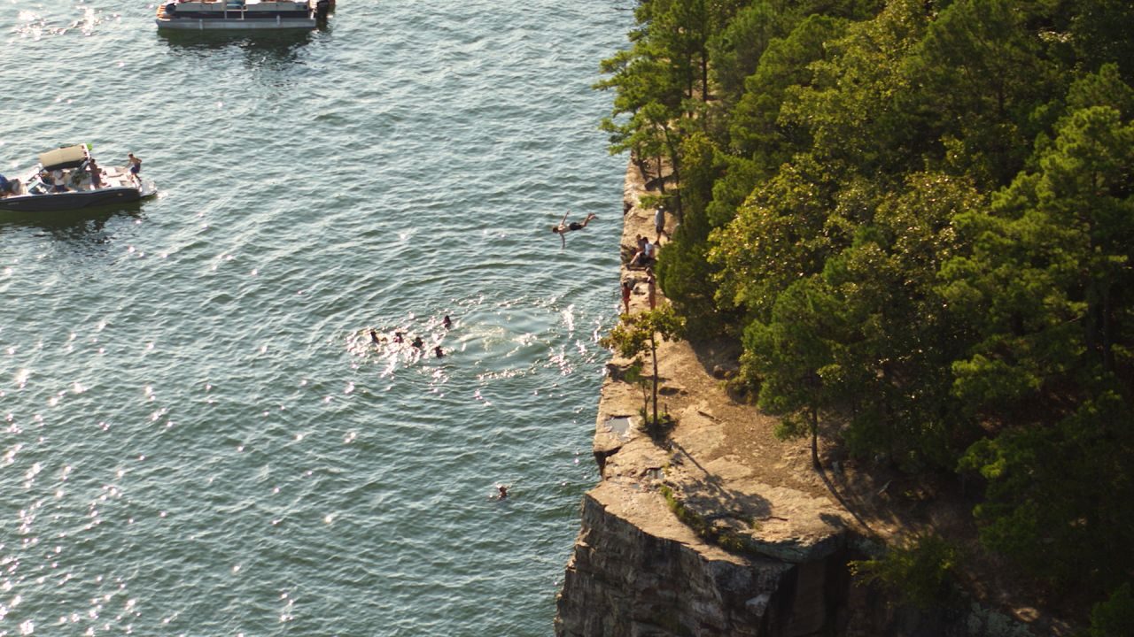 Exploring Arkansas From Above capture of Greer's Ferry Lake in summer