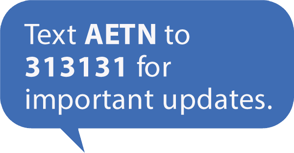 Text AETN to 313131