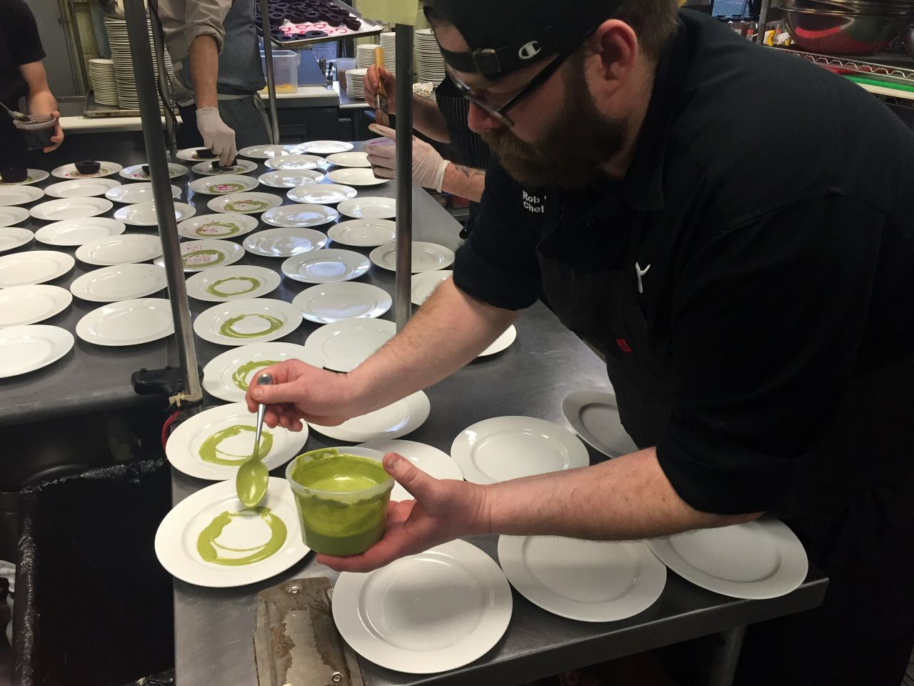 Chefs Plating at Ozark Beer Dinner