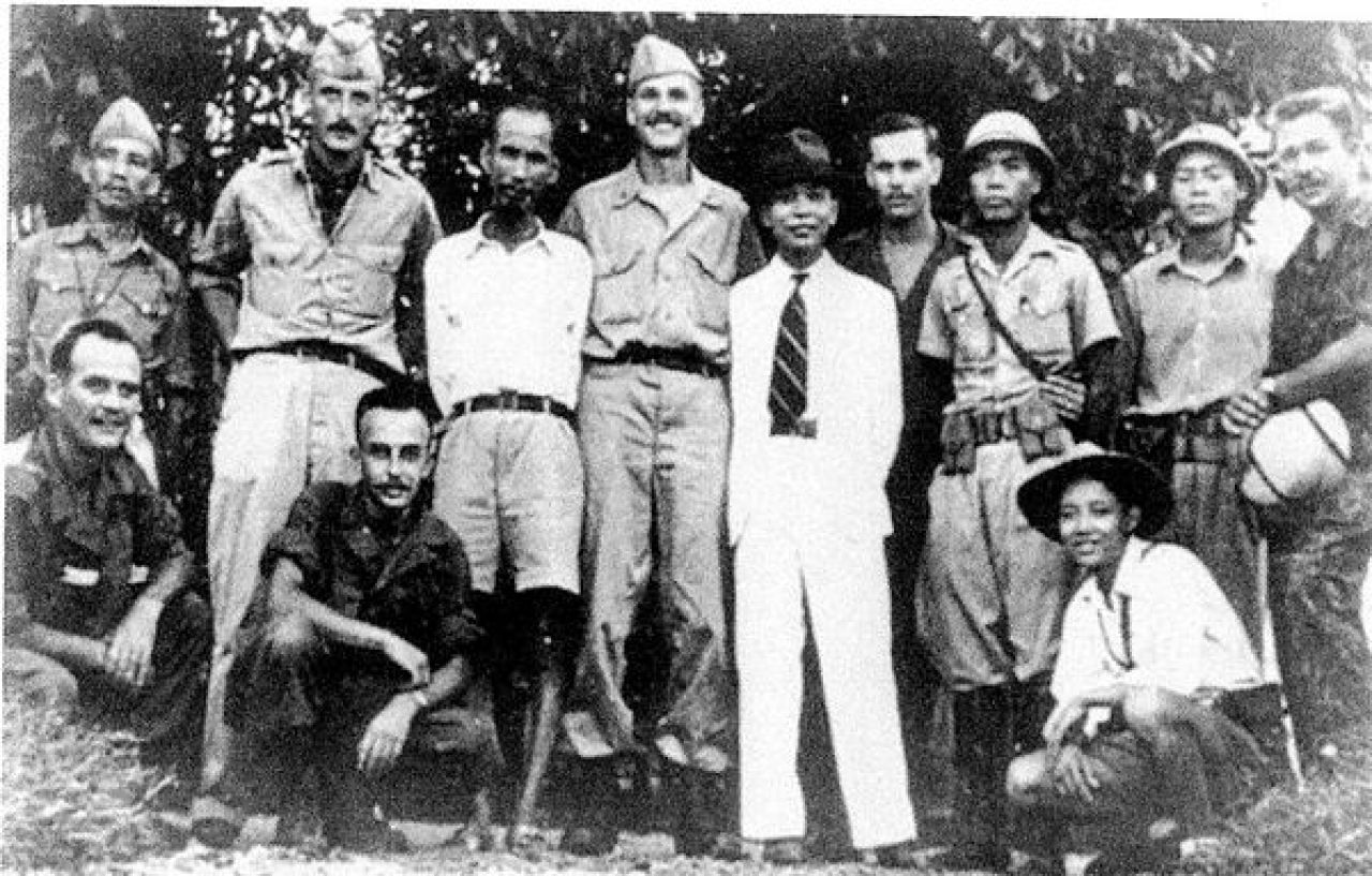 The Demystified Zone Ho Chi Minh and Vo Nguyen Giap with US OSS personnel