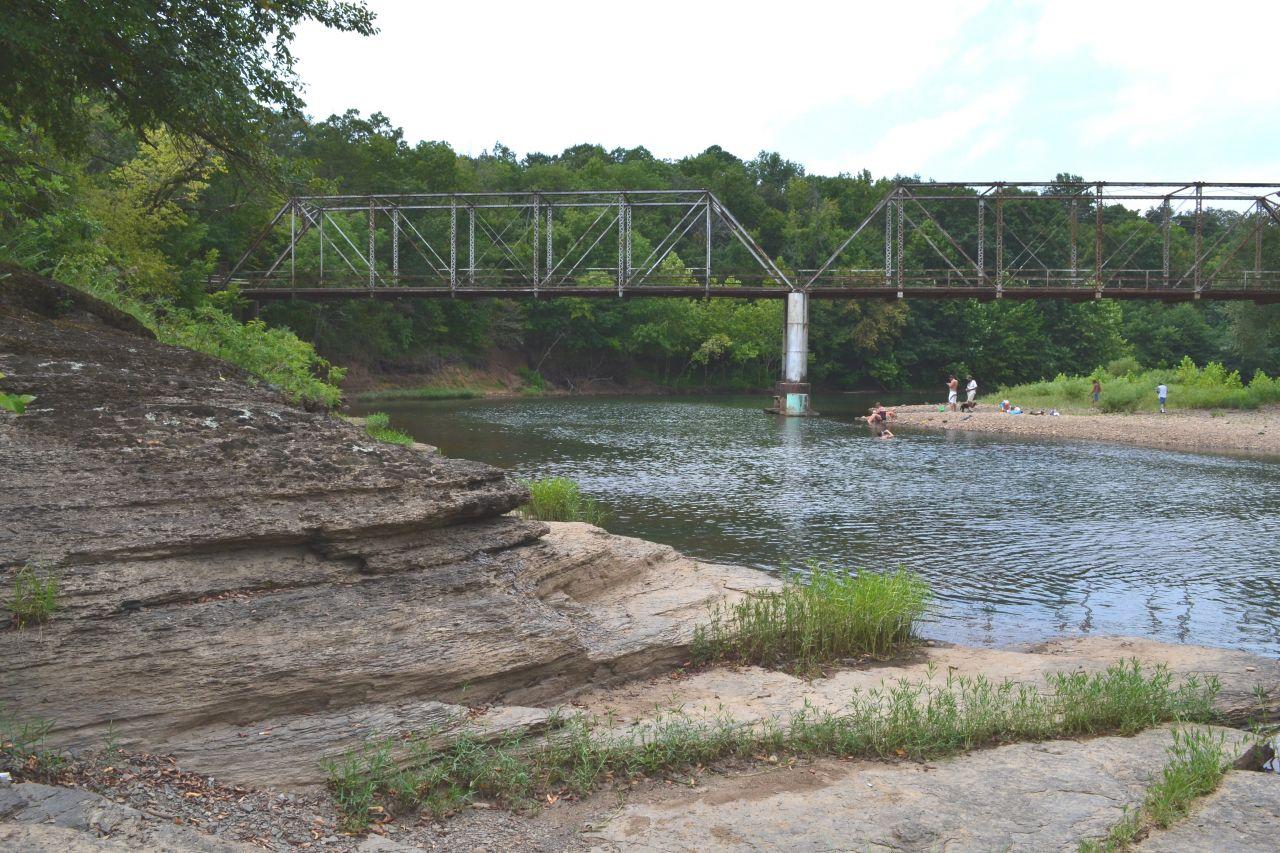 Exploring Arkansas October Silver Bridge Swimming Hole