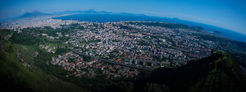 wide-angle photo of Campi Flegrei