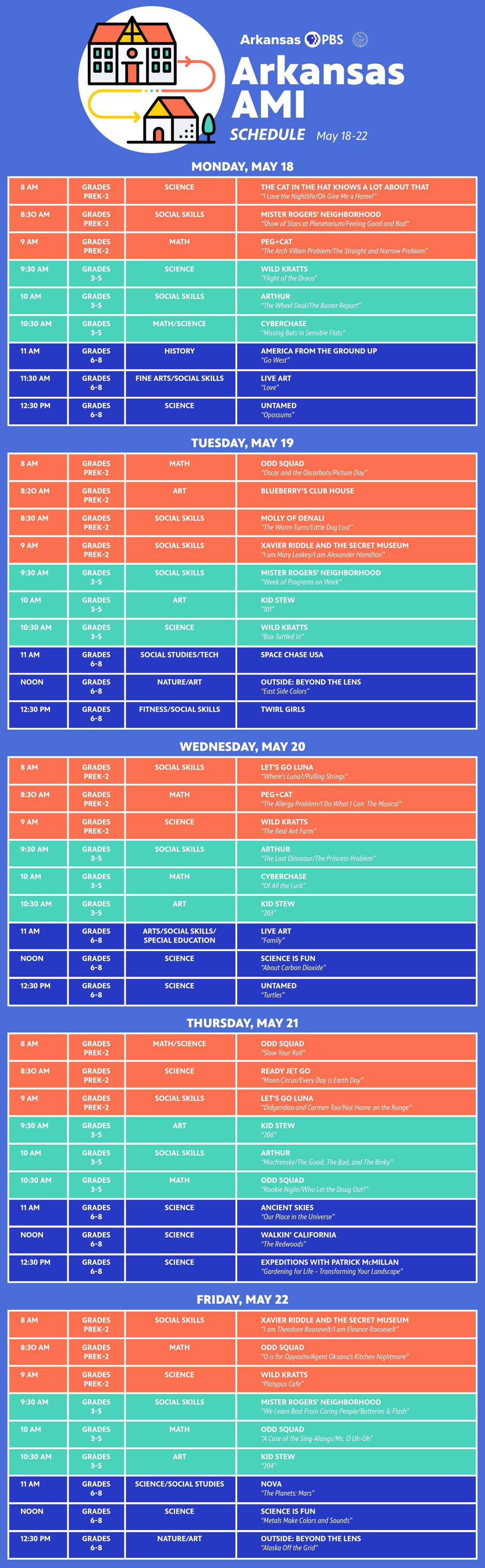 Week 8 Schedule Details
