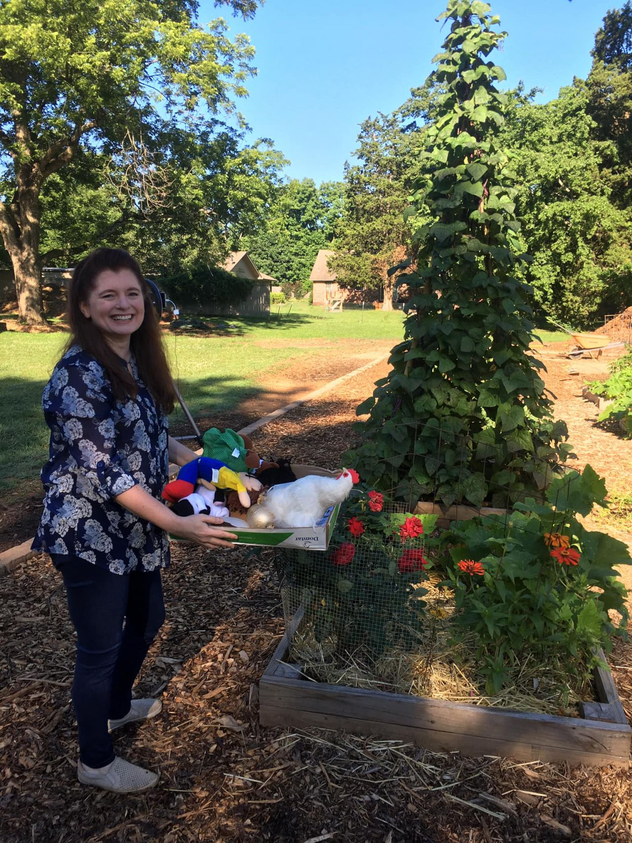 Ms. Mary and the Beanstalk at Faulkner County Urban Farm Project's Fairy Tale Garden