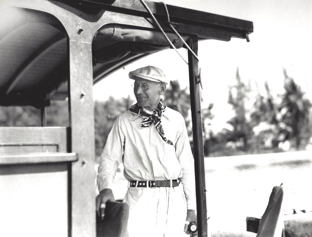 Gus Pfeiffer aboard Ernest Hemingway's boat Pilar, courtesy of the John F. Kennedy Library.