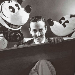 Walt Disney Sketching with Mickey Mouse
