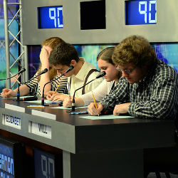 Students Competing in Quiz Bowl