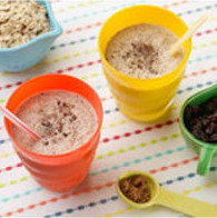 cups with oatmeal