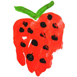 artistic representation of a strawberry