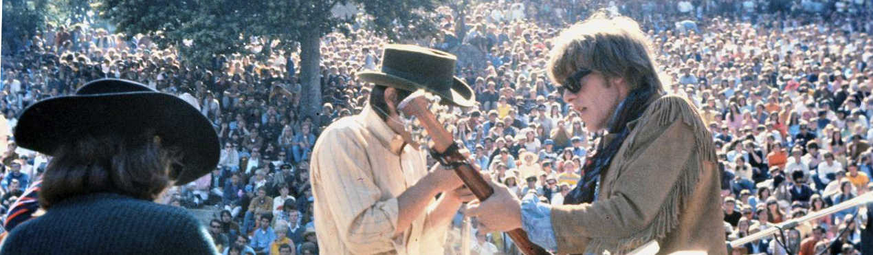 Members of Jefferson Airplane performing at the KFRC Fantasy Fair and Magic Mountain Music Festival in Marin County, California, United States in June, 1967