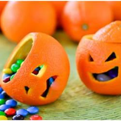 jack o lanterns made from oranges