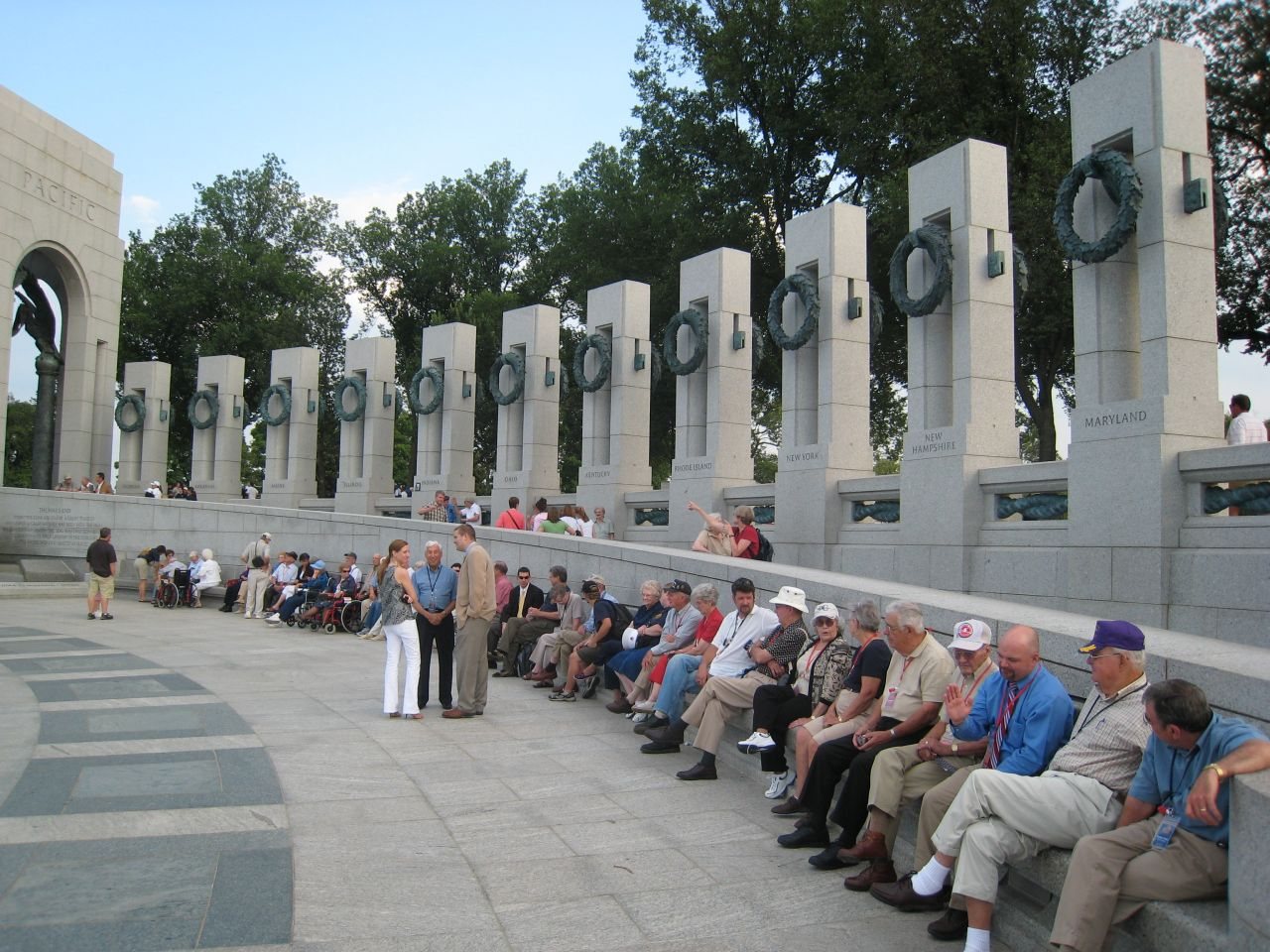 In Their Words Group at WWII Memorial
