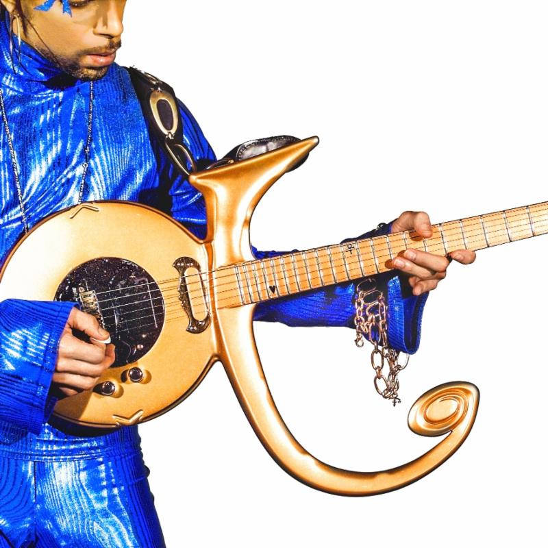 Prince with guitar