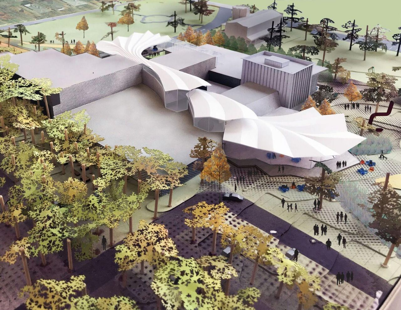 Model for Arkansas Arts Center Renovation