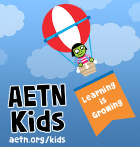 Graphic of AETN Kids Logo