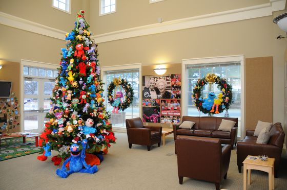 The AETN Character Tree 2012 will be on display through Jan. 1.