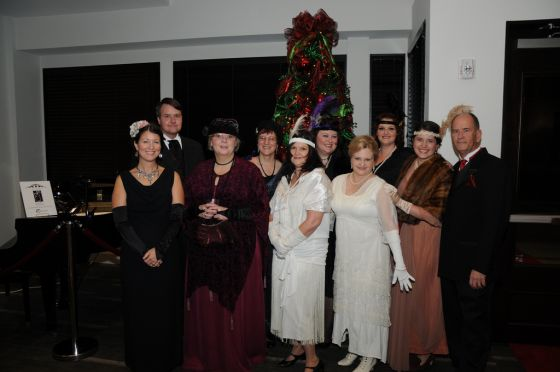 "AETN staff gather for ""Downton Abbey."""