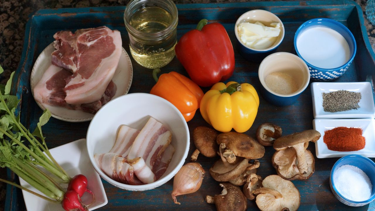 all of this and get a great recipe for my Pepper Pork Chop au Poivre ...