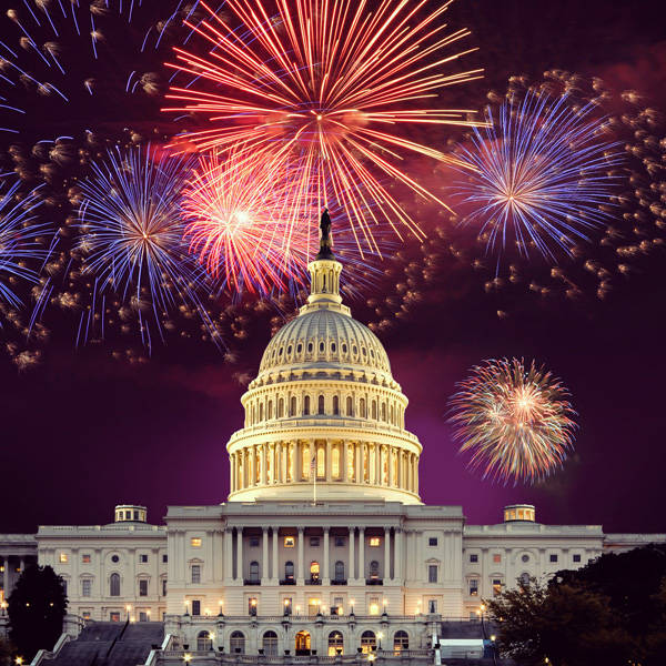U.S. Capitol with Fireworks