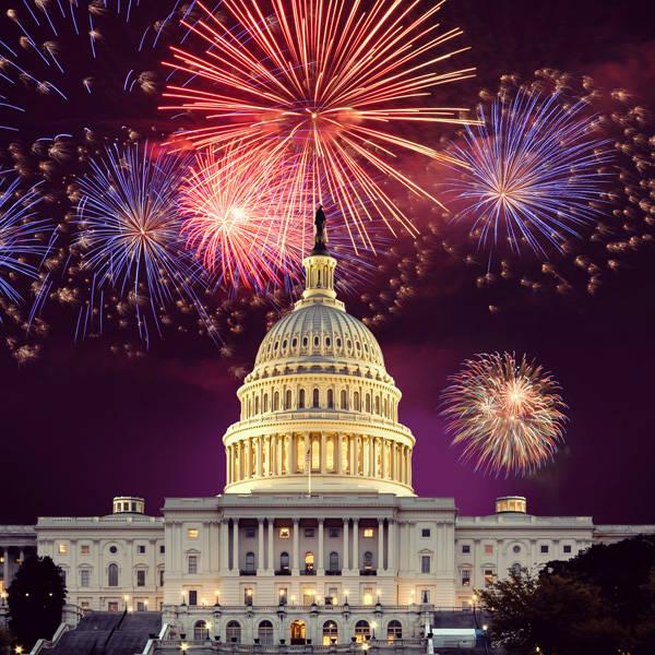 U.S. Capitol with Fireworks