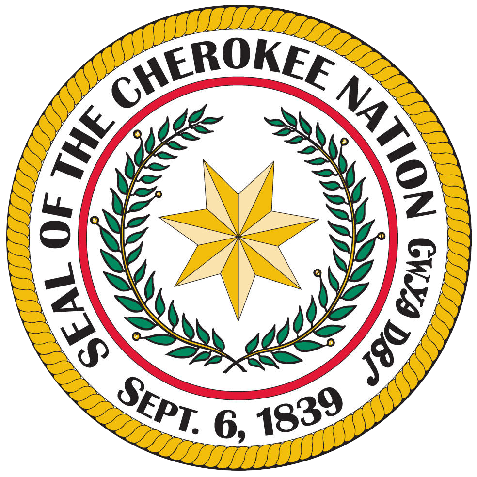 graphic of the seal of the Cherokee Nation