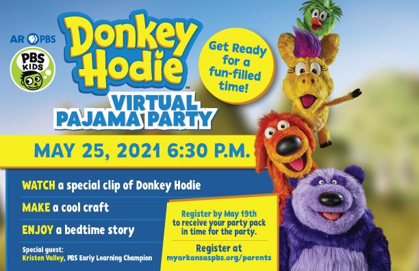 Donkey Hodie Pajama Party Virtual Event