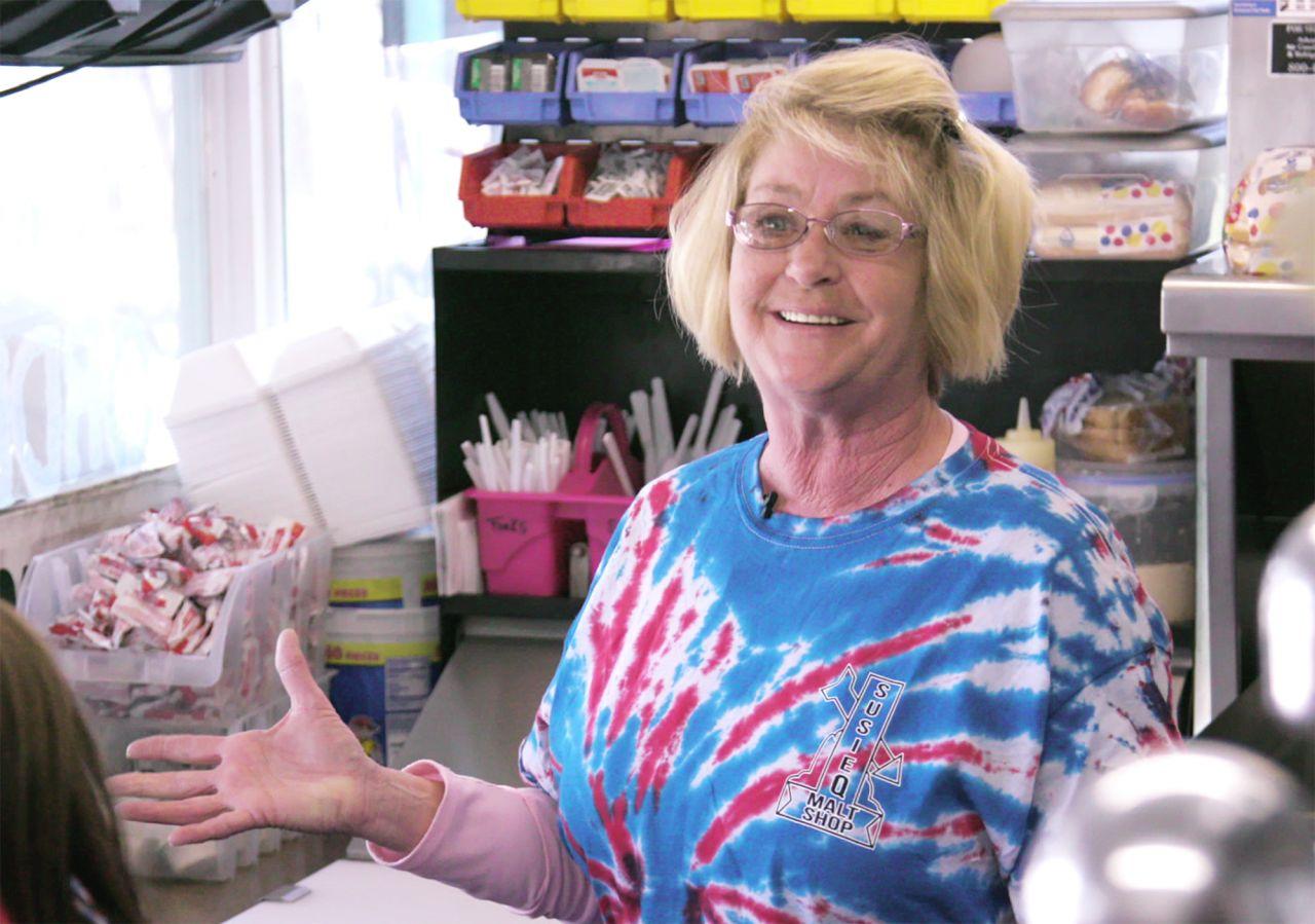 Susie Q Malt Shop Owner Sheila Edmondson, AKA Ms. Pinky or Boss Lady