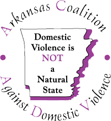 graphic logo for Arkansas Coalition Against Domestic Violence website