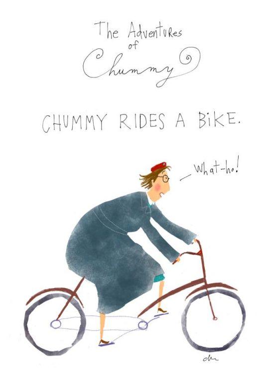 """""""Chummy Rides a Bike"""" by Jana Christy Illustrations"""
