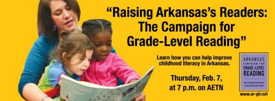 """Raising Arkansas's Readers: The Campaign for Grade-Level Reading"" airs Thursday, Feb. 7, at 7 p.m."