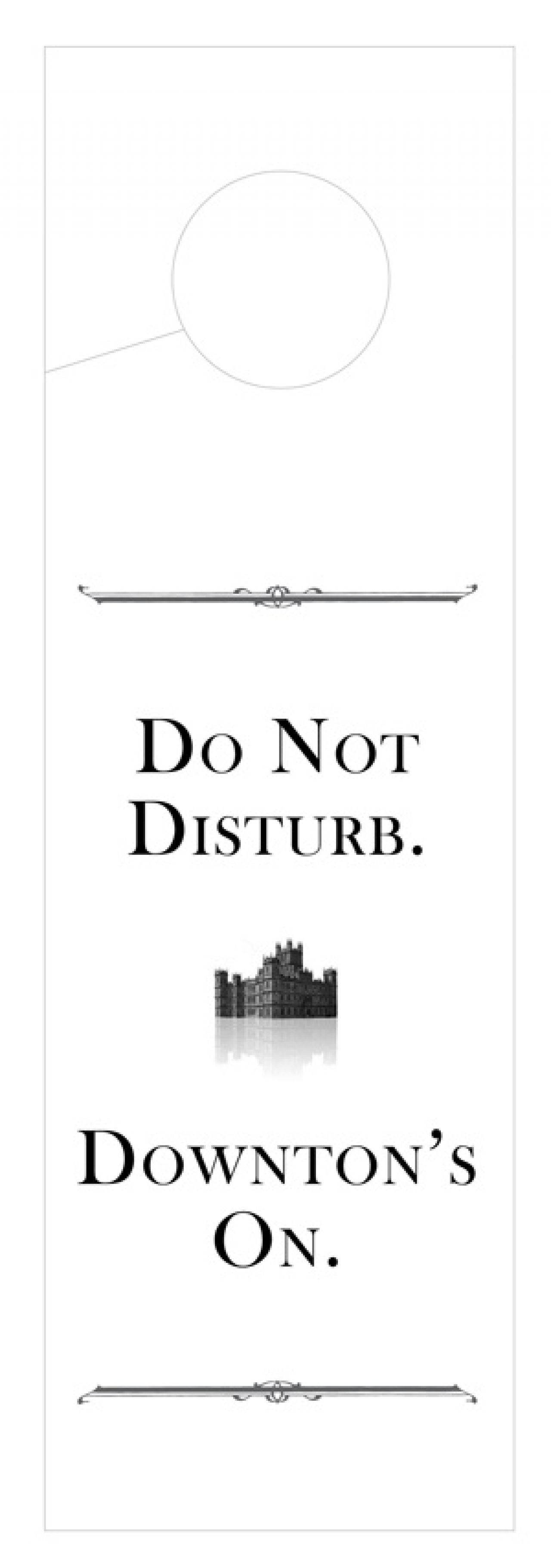 """Do Not Disturb"" ""Downton Abbey"" Doorhanger from The Pixel Gallery"