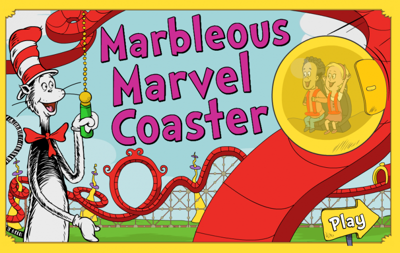 """The Cat in the Hat Knows a Lot About That!"" Marbelous Marvel Coaster Game"