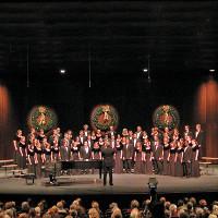 Choir singing to audience
